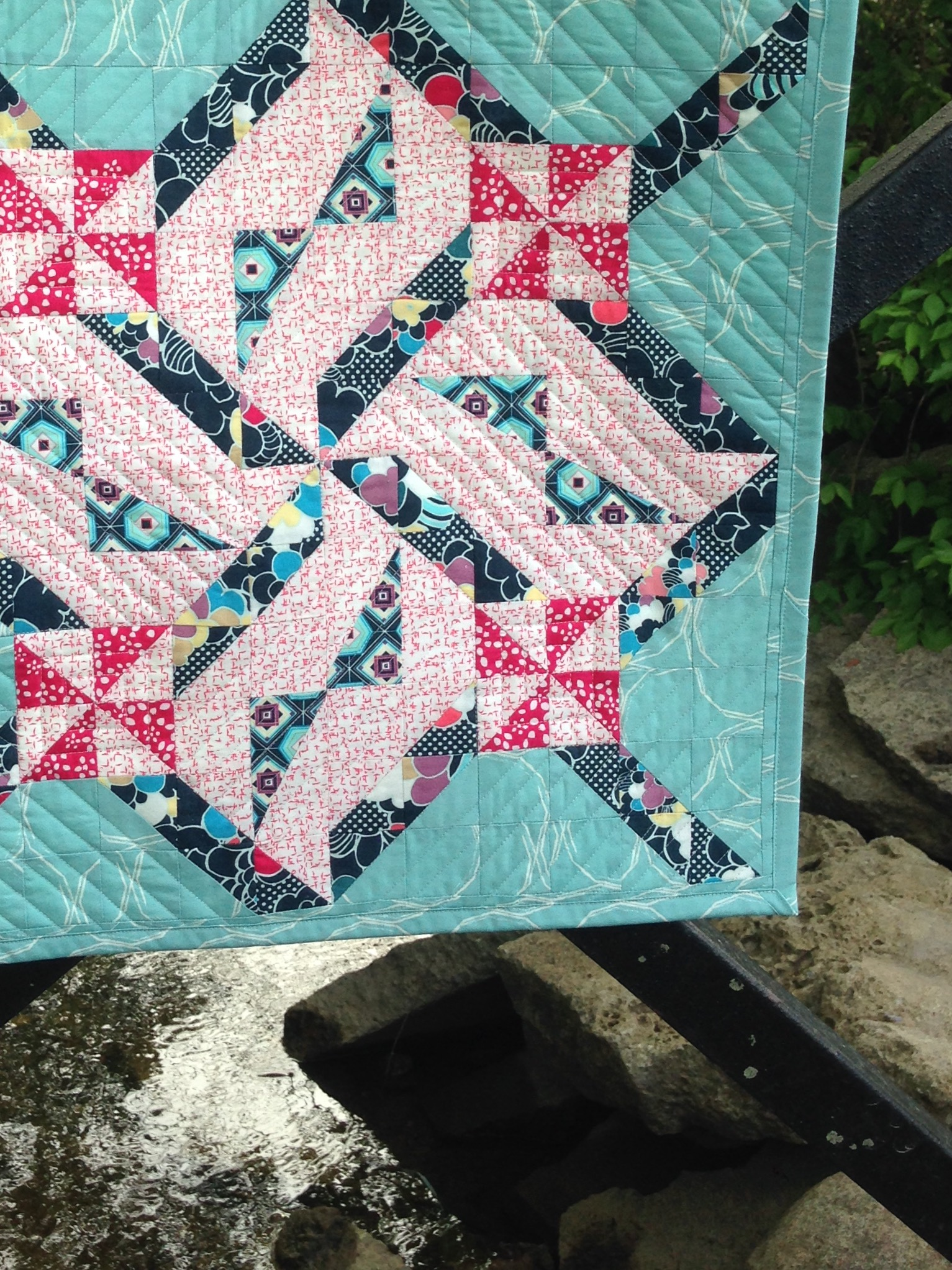 Daring Edge Quilt on Bridge