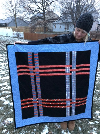 Fiber Optics Lap Quilt