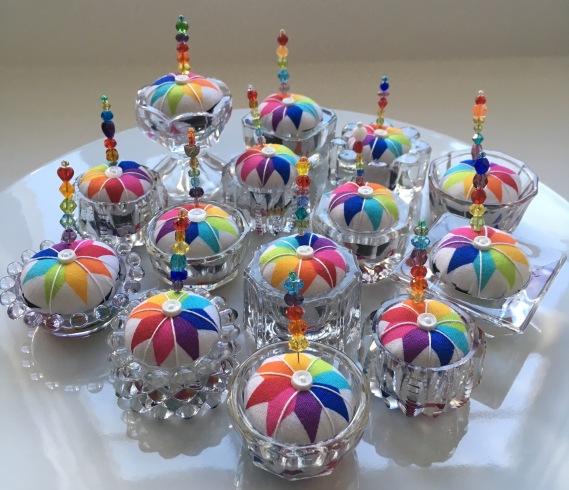 Rainbow Pincushions
