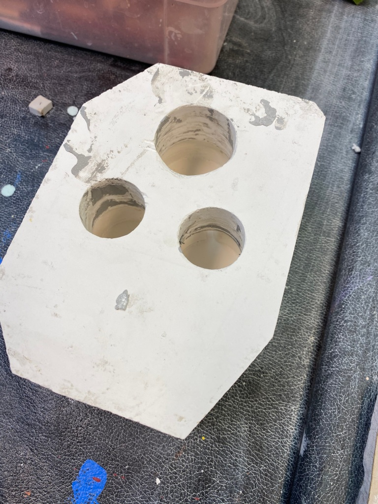 Ceramic mold for pincushion pal.